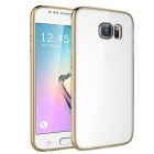 MO.MAT TPU Bumper Frame Case w/ Acrylic Hard Back Clear Cover for Samsung Galaxy S6 - Golden