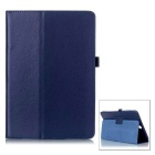 Protective Flip-Open PU Case w/ Stand for Samsung T550 - Dark Blue