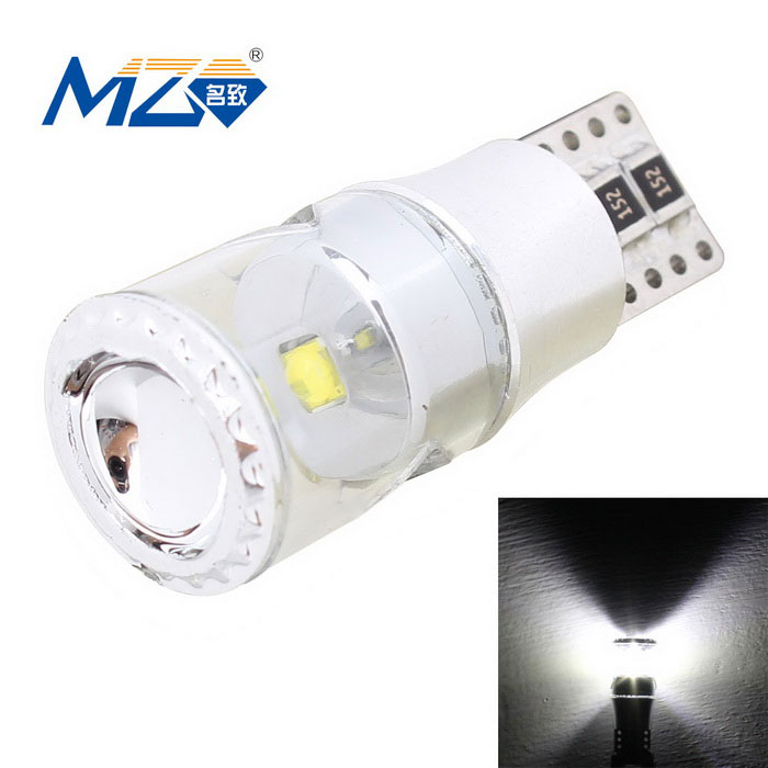 MZ T10 3W XB-D Car Clearance Lamp White Light 300lm Error-Free CanbusTail Lights<br>Color BIN3W WhiteModelN/AQuantity1 DX.PCM.Model.AttributeModel.UnitMaterialAluminumForm  ColorSilverEmitter TypeLEDChip BrandOthers,N/AChip TypeXB-DTotal Emitters1Power3WColor Temperature6500 DX.PCM.Model.AttributeModel.UnitTheoretical Lumens350 DX.PCM.Model.AttributeModel.UnitActual Lumens300 DX.PCM.Model.AttributeModel.UnitRate Voltage9~18VWaterproof FunctionNoConnector TypeT10ApplicationLicense plate light,Clearance lamp,Indicator lampPacking List1 x LED bulb<br>