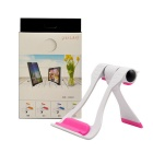 Universal Plastic Adjustable Desktop Stand Holder - White + Pink