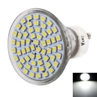 WaLangTing GU10 3W LED Spotlight Bulb White Light 6000K 130lm 60-SMD 3528 - Silver (AC 220~240V)