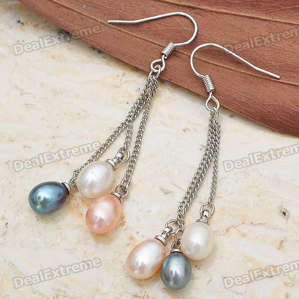 Multicolor Pearl Dangle Earrings