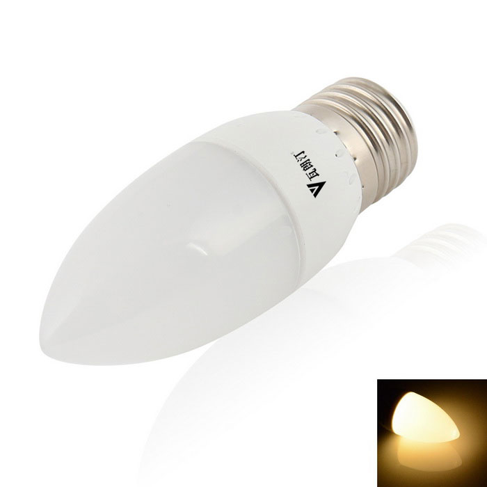 WaLangTING E27 3W LED Candle Bulb Lamp Warm White 150lm 9-SMD 5630