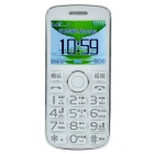 "F666F 2"" LCD Dual-SIM Quad-Band GSM Bar Phone w/ Speed Dial / SOS / MP3 / FM / Flashlight - White"