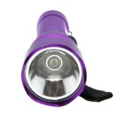 Ultrafire 1-LED 100lm 3-Mode Cool White Mini Flashlight - Purple