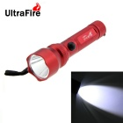UltraFire 1-LED 100lm 3-Mode Cool White Light Mini Flashlight Torch - Red (1 x AA)