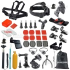 51-In-1 Outdoor Sports Camera Accessories Kit for GoPro Hero 4 / 3+ / 3 / 2 / 1 - Black