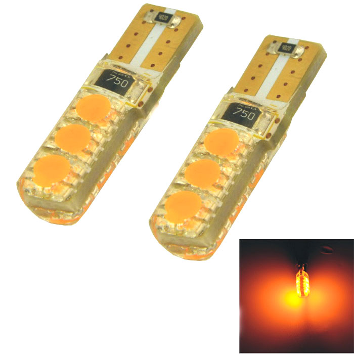 CARKING T10 1.2W 560nm 98lm 6-SMD 5050 Yellow Car Lamp (12V / 2PCS)