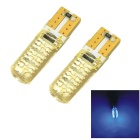 CARKING T10 1.2W Silicone Car Clearance Lamps Blue Light 450nm 98lm 6-SMD 5050 (12V / 2 PCS)