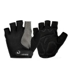 MOke Outdoor Cycling Breathable Sweat-Absorbing Half-Finger Gloves - Black (M / Pair)