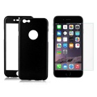 3-in-1 Protective Front + Back Case w/ Tempered Glass Screen Protector for IPHONE 6 - Black