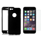 3-in-1 Protective Front + Back Case w/ Tempered Glass for IPHONE 6 PLUS - Black