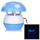 Cute Mushroom Style Quiet Design Purple Light 6-LED Mosquito Killer Lamp - White + Blue (US Plug)