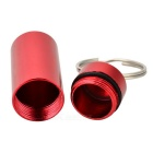 Outdoor Pill Tablet Storage Case Keychain - Red (2PCS)