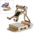 7170mAh Mobile Power Bank w/ Bracket Holder for IPHONE 5 / 5C / 5S - Light Golden