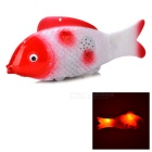 Imitation Swing Fish Toy w/ LED Light & Music Effect - Red + White (2 x AA)