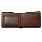 WBP858 Men's Stylish Top Layer Cowhide Wallet - Deep Coffee