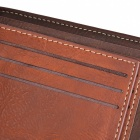 WBP858 Men's Stylish Top Layer Cowhide Purse Wallet - Light Coffee
