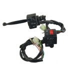 CARKING 2-in-1 Motorcycle Handle Bar Switches - Black (DC 12V / 24V)