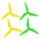 Replacement 3-Blade Propeller Set for Syma X5/JJR/C- Yellow + Green