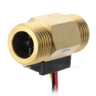 G1/2 Hall Flow Transducer / Sensor w/ 3-Wire - Golden + Black + Multicolor