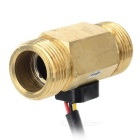G3/4 Hall Flow Transducer / Sensor w/ 3-Wire  for Water Heater + More - Golden + Black + Multicolor