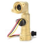 DN15 Type-L Water Flow Sensor for Electric Water Heater / Washing Machine - Gold + Black