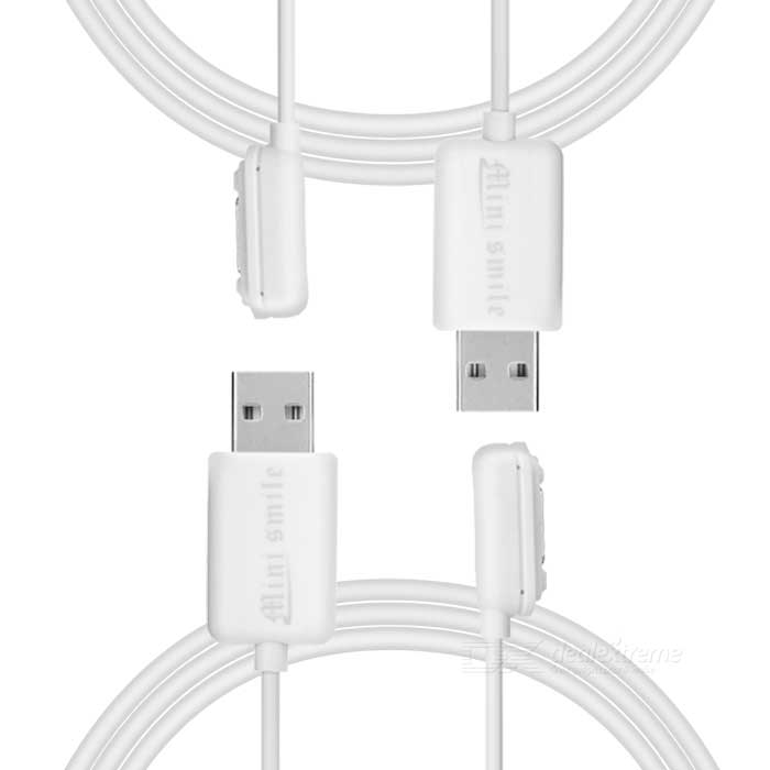 Magnetic Connector Charging Cable - White