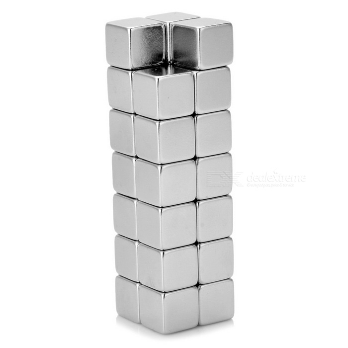N35 10*10*10mm Square Magnets -Silver (27PCS)