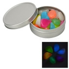 Household / Garden Decoration Glow-in-the-Dark Resin Stones Pebbles Toy - Multi-Color
