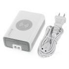 Mini sorriso M12 EUA plugues Power USB 5 portas Qi Wireless Charger - Branco