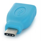 USB 3.0 Type-C Male to USB 2.0 Female Adapter - Light Blue