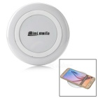 Mini Smile 5V 1A Wireless Charger + Charging Cable for Samsung Galaxy S6 / Galaxy S6 Edge - White