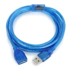 USB 2.0 Male to Female Extension Cable - Sapphire + Silver (150cm)