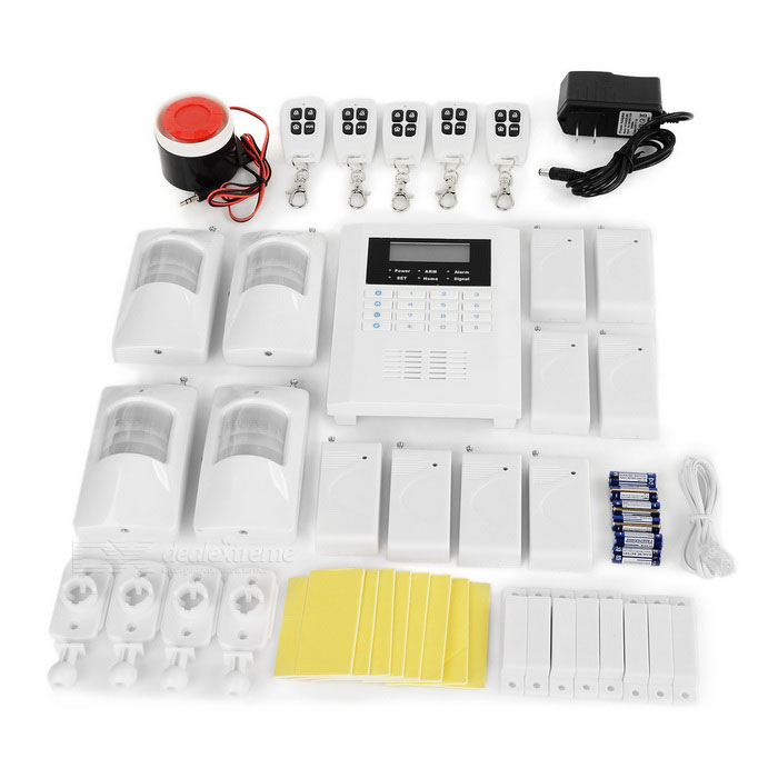 GSM Home Anti-Theft Alarm System - White + Black (US Plugs)