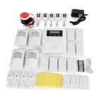 GSM Home Anti-Theft Alarm System - White + Black (US Plug)