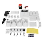 GSM Home Burglar Alarm System - White + Black (UK Plug)