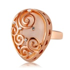 Women's Creative Design Alloy + Imitation Opal Ring - Rose Gold (US Size: 8)