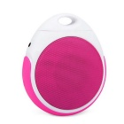 E400 Portable Bluetooth V2.1 EDR Wireless Speaker with Lanyard & Handsfree Call - Deep Pink + White