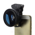 Cwxuan 2-in-1 Universal Clip-on 0.45xAF Wide-Angle + Macro Lens for Mobile Phones & Tablets - Black