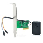 Wireless PCI Computer / PC Switch Lock w/ Remote Control - Green + Black
