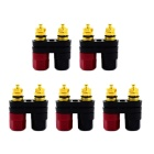 Jtron Double Line Patchwork Column Advanced Conjoined Audio Amplifier Terminal - Red + Black (5 PCS)