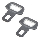 Universal Car Safety Seat Belt Buckle w/ Beer Bottle Opener Function - Black (Pair)
