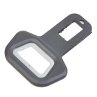 Safety Seat Belt Buckle w/ Beer Bottle Opener Function - Black (Pair)