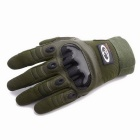 OUMILY Outdoor Tactical Full-Finger Gloves - Army Green (Size XL Pair)