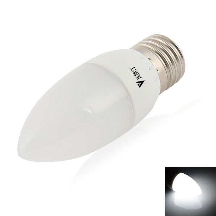 WaLangTING E27 4W Dimmable LED Candle Bulb Lamp Cool White Light 160lm