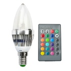 JIAWEN E14 3W Remote Controlled LED Bulb Colorful Light 240lm - Silver