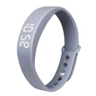 W5 Multifunctional LED USB Smart Bracelet w/ 3D Pedometer & Sleep Monitor Function - Grey
