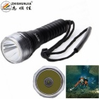 ZHISHUNJIA 900lm XM-L T6 1-LED White Diving Dimming Flashlight - Black (1 x 18650 / 3 x AAA)