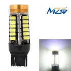 MZ T20 24W+1.5W LED Car Brake Lamp / Daytime Running Light White 48-SMD 5630 + 1-COB (12~24V)
